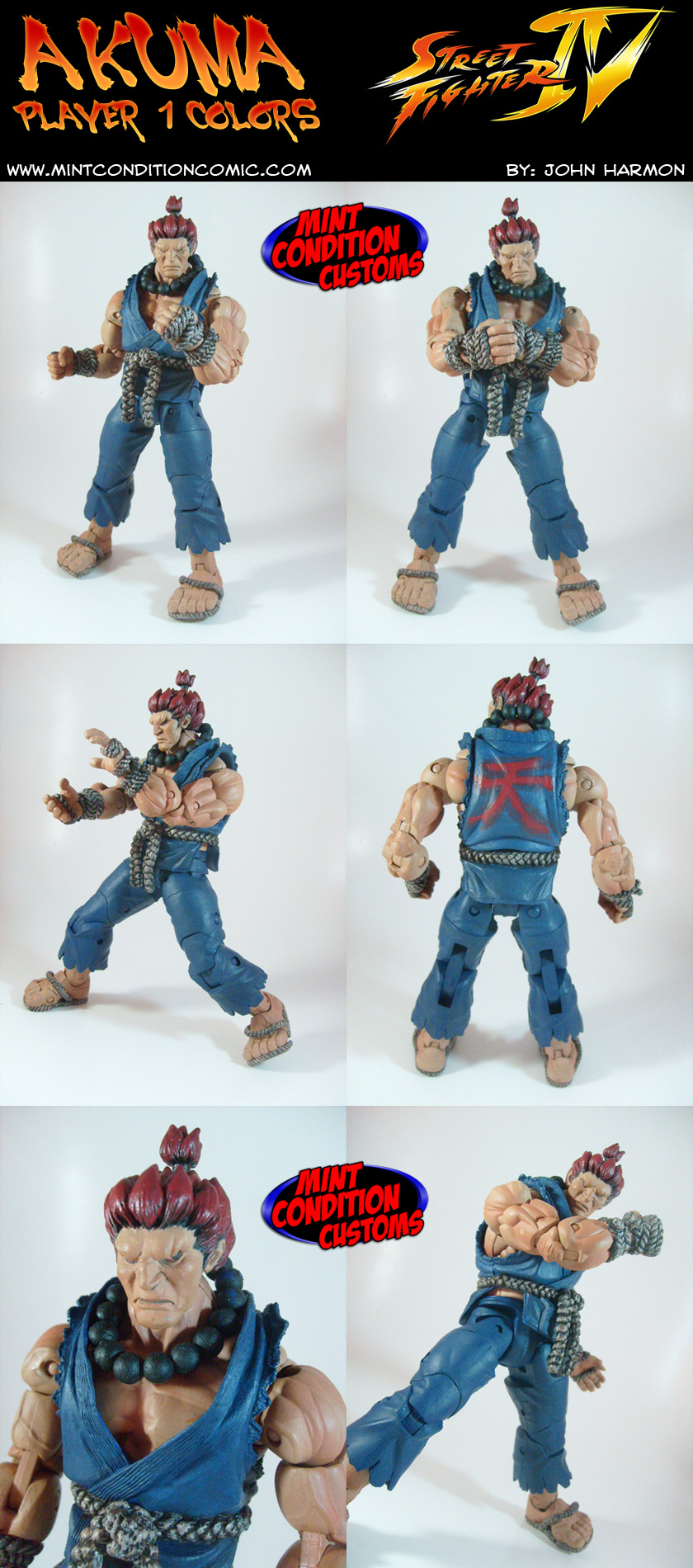 Akuma (Street Fighter 4) NECA Custom Action Figure