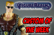 Figurerealm Custom of the Week - Duke Nukem Action Figure by John Harmon Mint Condition Customs