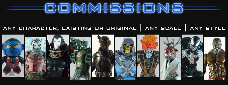 Custom Action Figure Commissions Information - Any Character, Existing or Original. Any Scale. Any Style