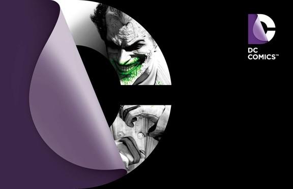 DC Comics New Logo Arkham City 2012