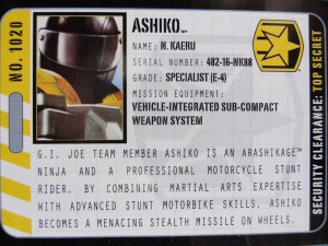 Ashiko with Cycle Armor Hasbro G.I. Joe Pursuit of Cobra