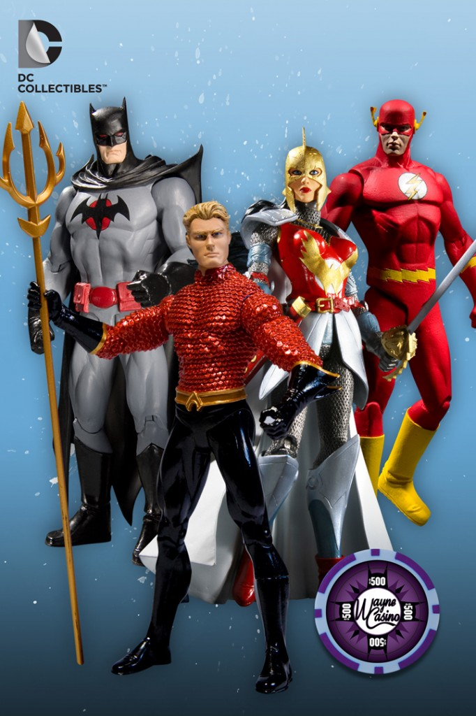 DC Direct Collectibles Flashpoint Action Figure Box Set Batman Aquaman Flash Comics