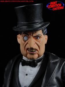 "DC Universe 6"" Penguin in Black and white tuxedo Mattel Mint Condition Custom Action Figure John Harmon"