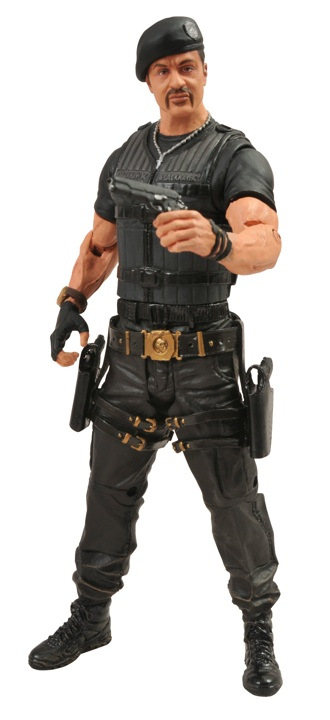 "DST Diamond Select Toys 7"" Action Figure Expendables 2 Barney Ross Sylvester Stallone"