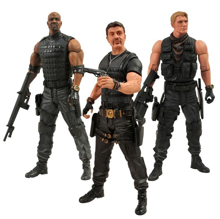 "DST Diamond Select Toys 7"" Action Figure Expendables 2 Barney Ross Sylvester Stallone Hale Caesar Gunner Jensen Terry Crews Dolph Lundgren"