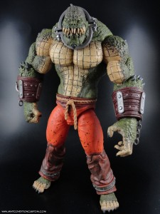 DC Direct Colllectibles Batman Arkham Asylum City Deluxe Action Figure Killer Croc 9.5""