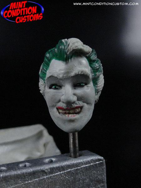 "Custom DC Universe 6"" Cesar Romero Joker Head Sculpt Work in Progress Action Figure Pic"