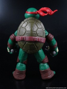 2012 Nickelodeon Teenage Mutant Ninja Turtles TMNT Raphael back sculpt