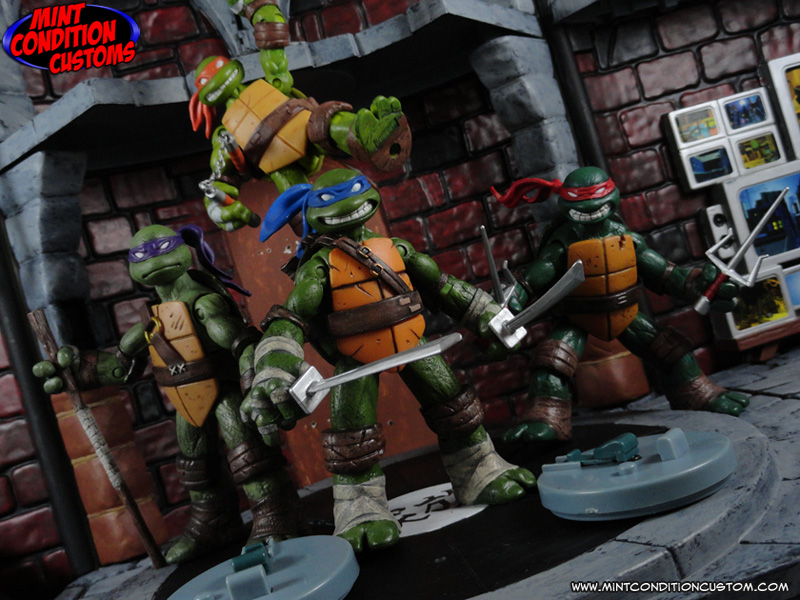 Custom Nickelodeon Teenage Mutant Ninja Turtles Action Figure Set