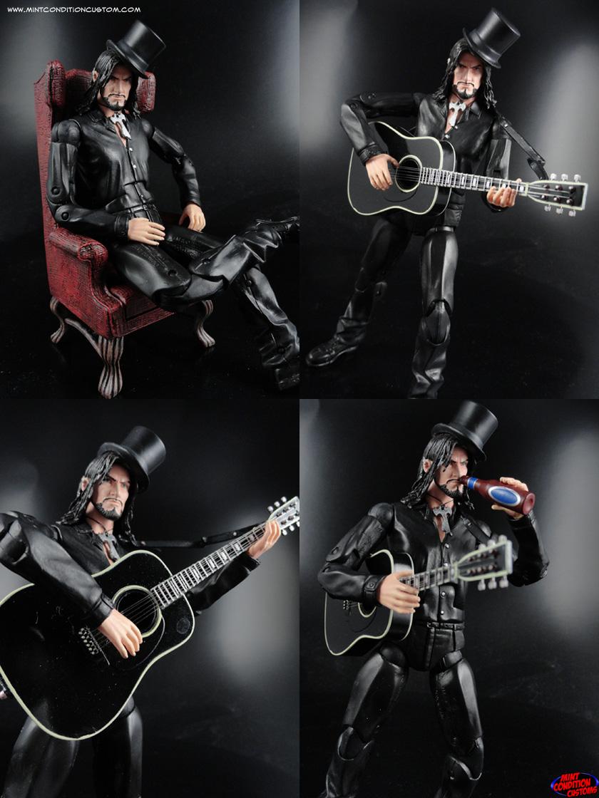 """Custom 6"""" Aurelio Voltaire Action Figure Gothic Folk Singer Black Unicorn"""