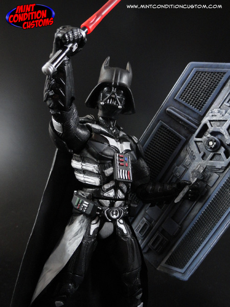"Custom Darth Knight 2.0 6"" DC Universe/Star Wars Amalgam Action Figure"