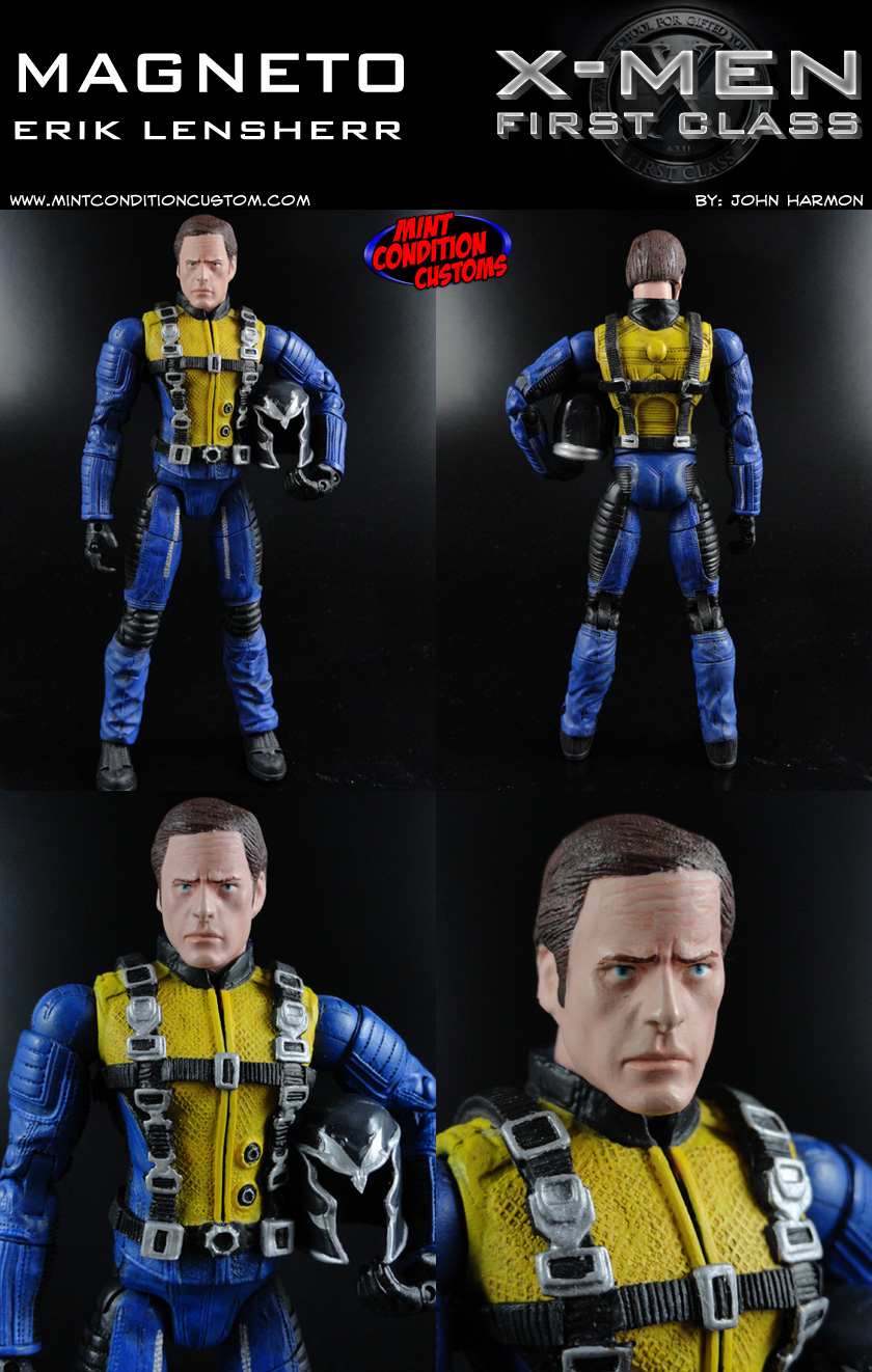Custom Erik Lensherr Magneto (X-Men First Class Movie Style) 6″ Marvel Legends Action Figure