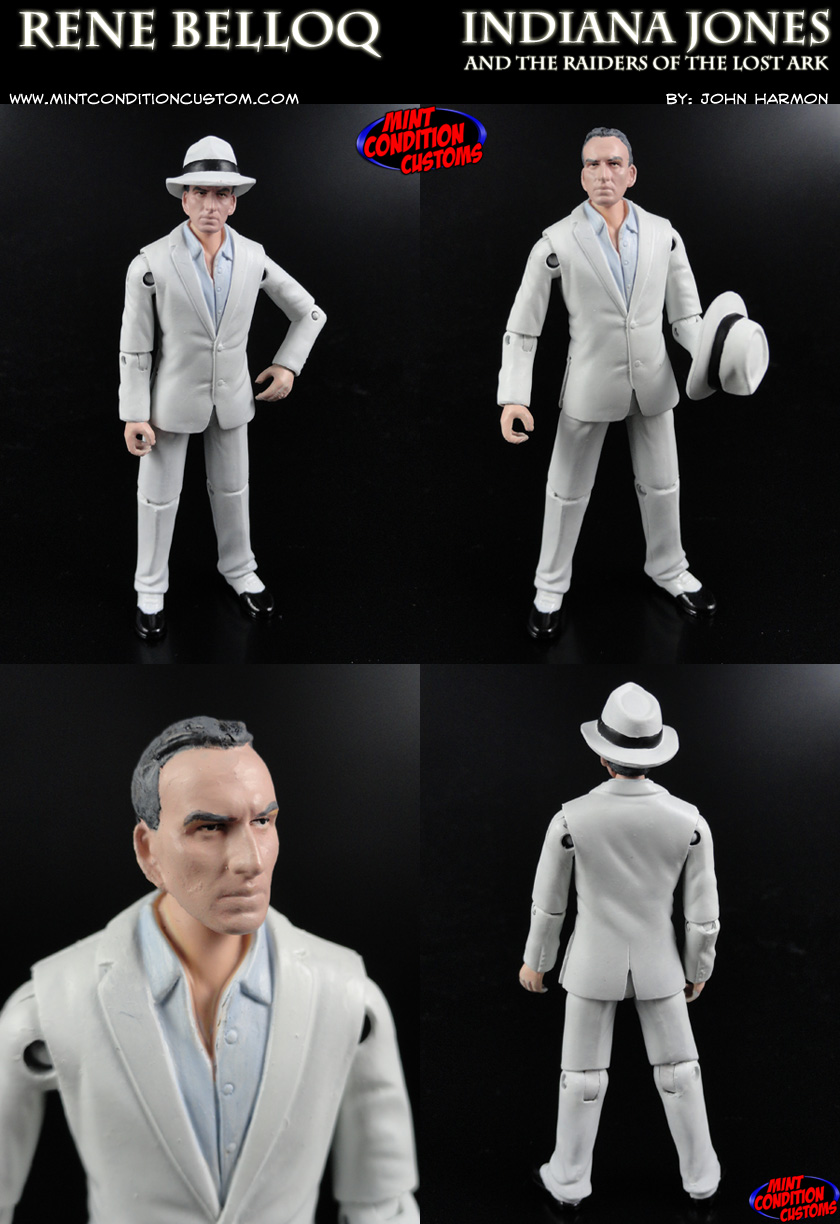 "Custom Rene Belloq 3 3/4"" G.I. Joe Indiana Jones Action Figure"