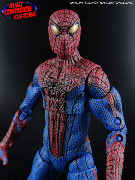 "Custom Amazing Spider-Man (Movie Style Repaint) 6"" Marvel Legends Action Figure Hasbro Andrew Garfield"