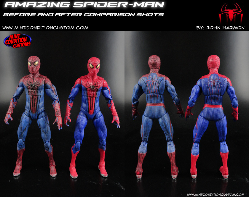 "Custom Amazing Spider-Man (Movie Style Repaint) 6"" Marvel Legends Hasbro Andrew Garfield Action Figure"