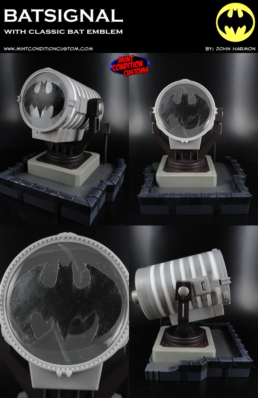 "Custom Batman Batsignal (Classic Emblem) 6"" Scaled Light-Up DC Universe Display"