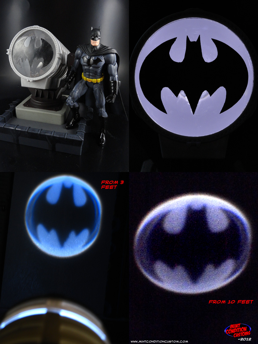 "Custom Batman Batsignal (Classic Emblem) 6"" Scaled Light-Up DC Universe Display"