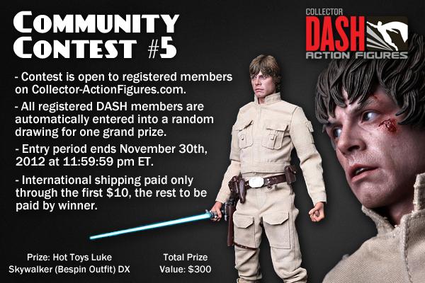Collector DASH Action Figures Community Contest #5 Hot Toys Luke Skywalker