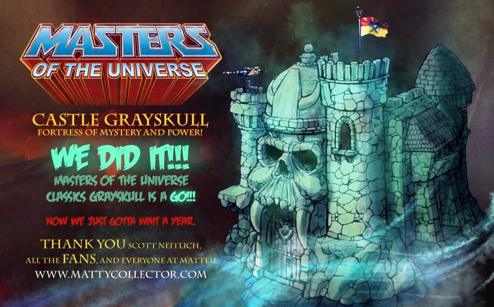 Masters of the Universe Classics Castle Grayskull is a go!