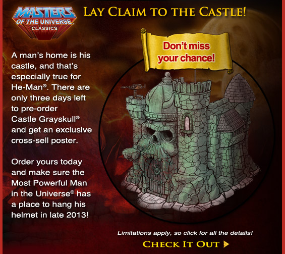 Pre-Order the Mattel Masters of the Universe Classics Castle Grayskull Today!