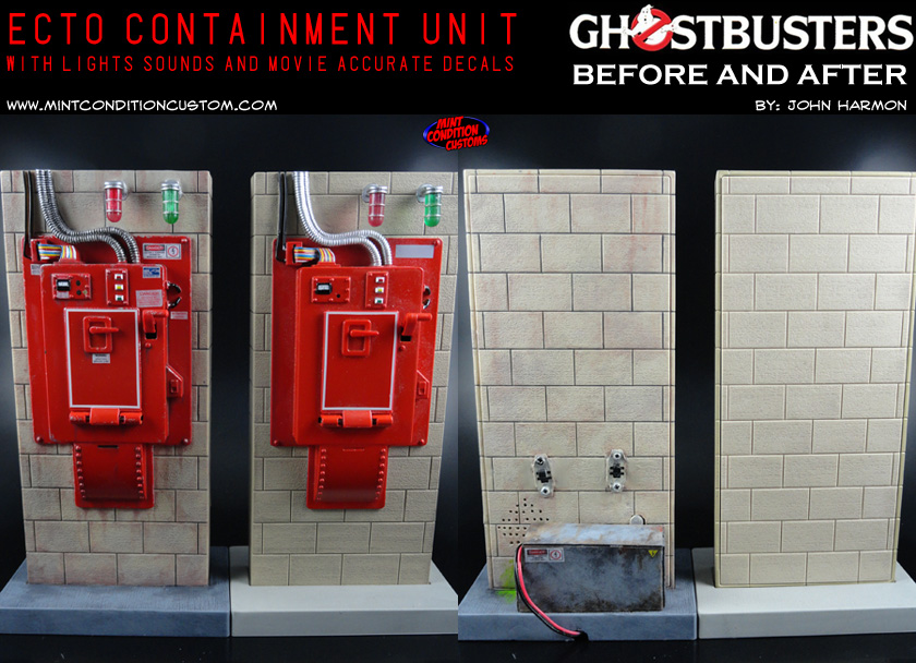 "Custom Ghostbusters 6"" Scale Mattel Containment Unit Lights Sounds Before and After"