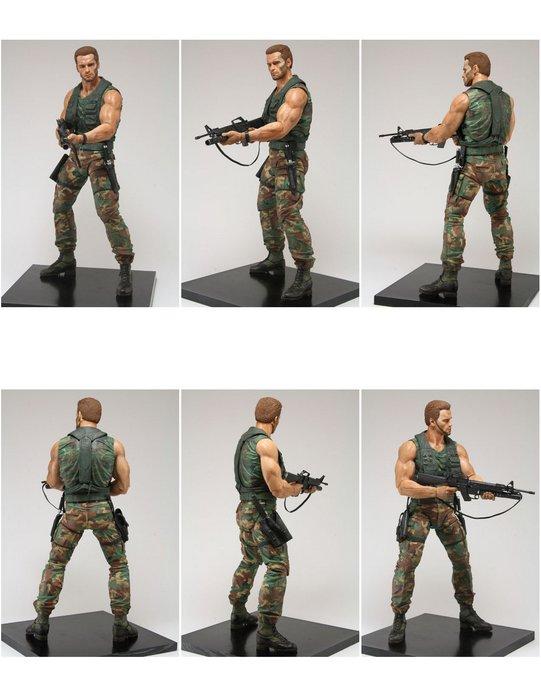 "NECA Jungle Patrol Major Dutch Schaefer Predators Series 8 7"" Action Figure Turn Around"