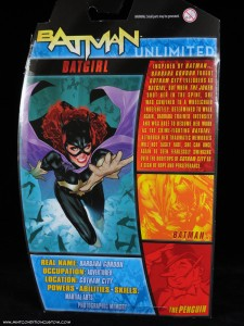 Batman Unlimited New 52 Batgirl action figure from Mattel in package back