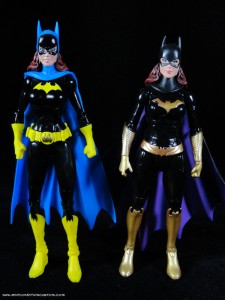 Batman Unlimited New 52 Batgirl action figure comparison with DCUC Batgirl