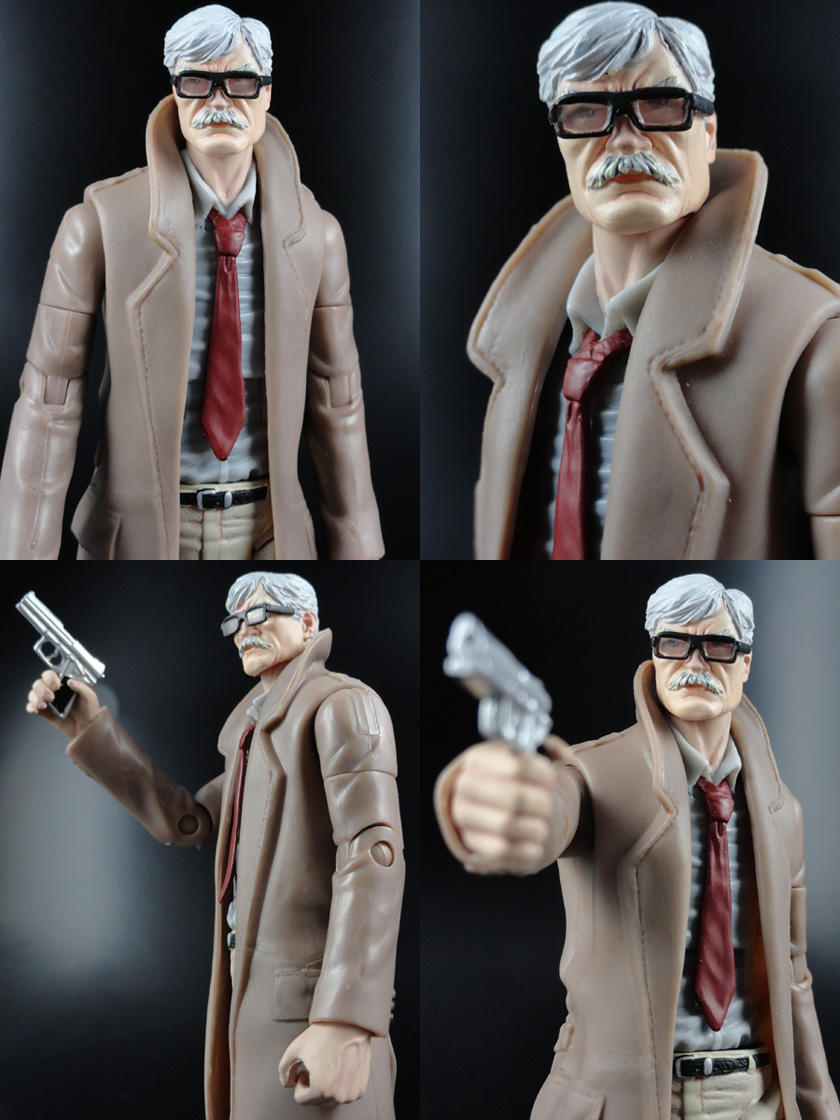 "Custom Commissioner Gordon 6"" DC Universe Action Figure"