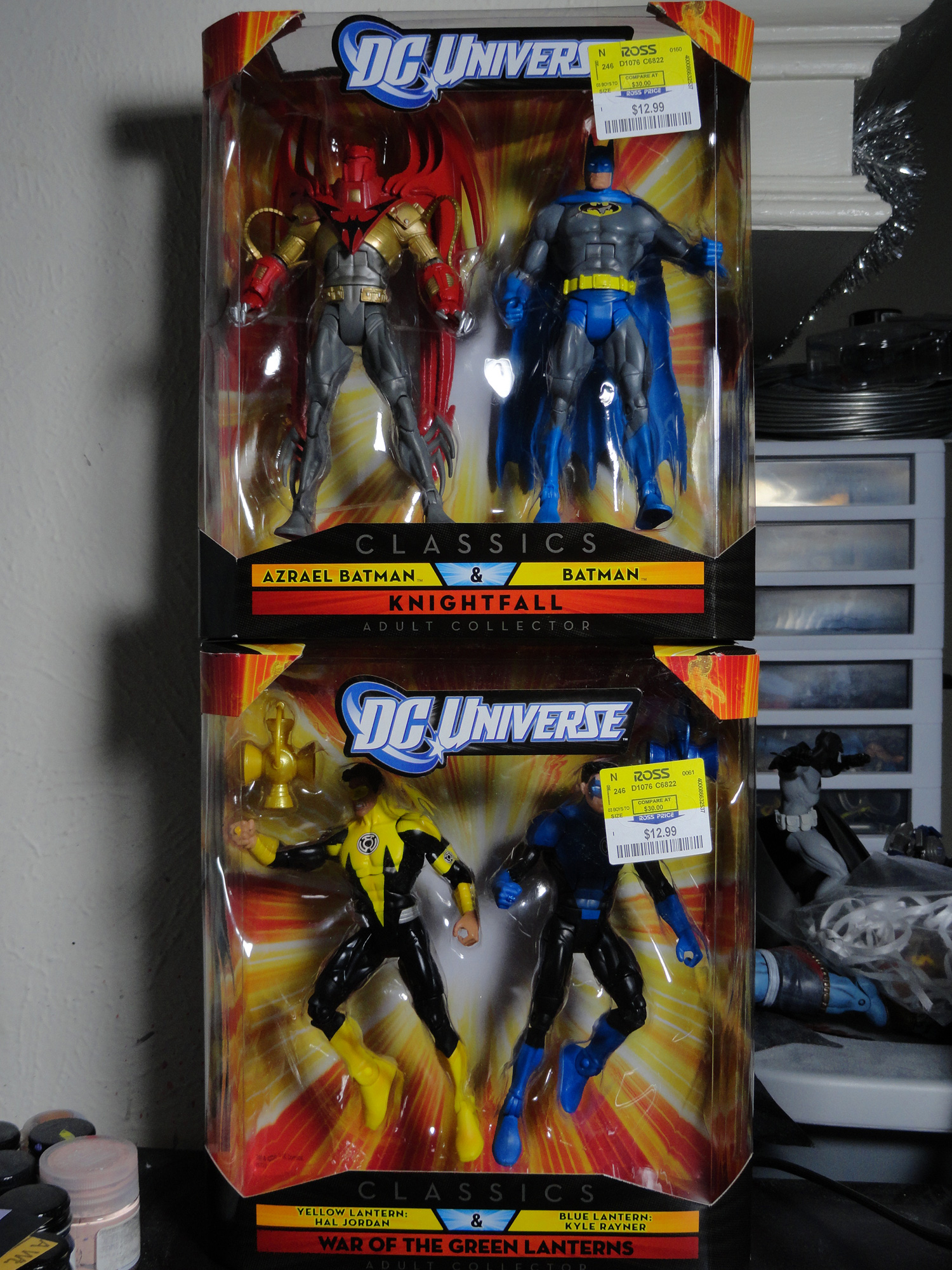 "DC Universe Knightfall & War of the Green Lantern 2 Packs From Mattel 6"" Ross"