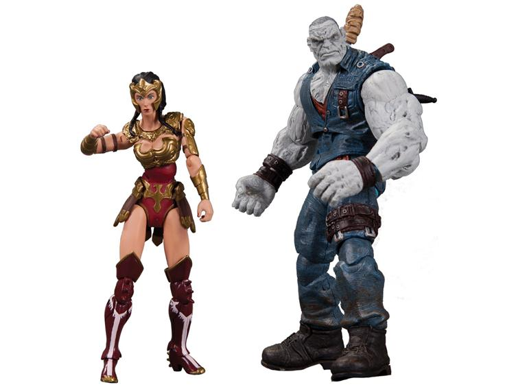 "Injustice Gods Among Us 3.75"" Woner Woman & Solomon Grundy Action Figures From DC Collectibles video game"