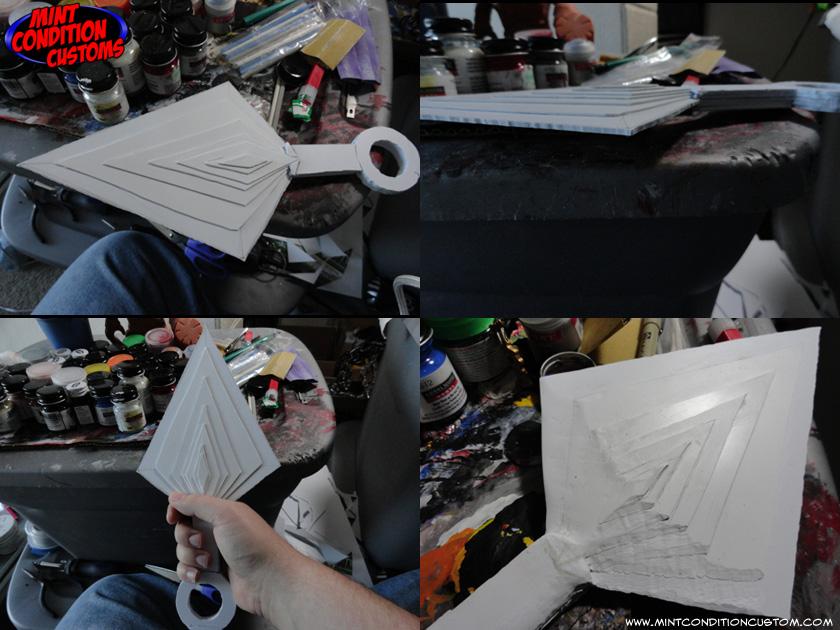 Custom Mortal Kombat Scorpion Spear and Posable Chain Prop Replica Work in Progress