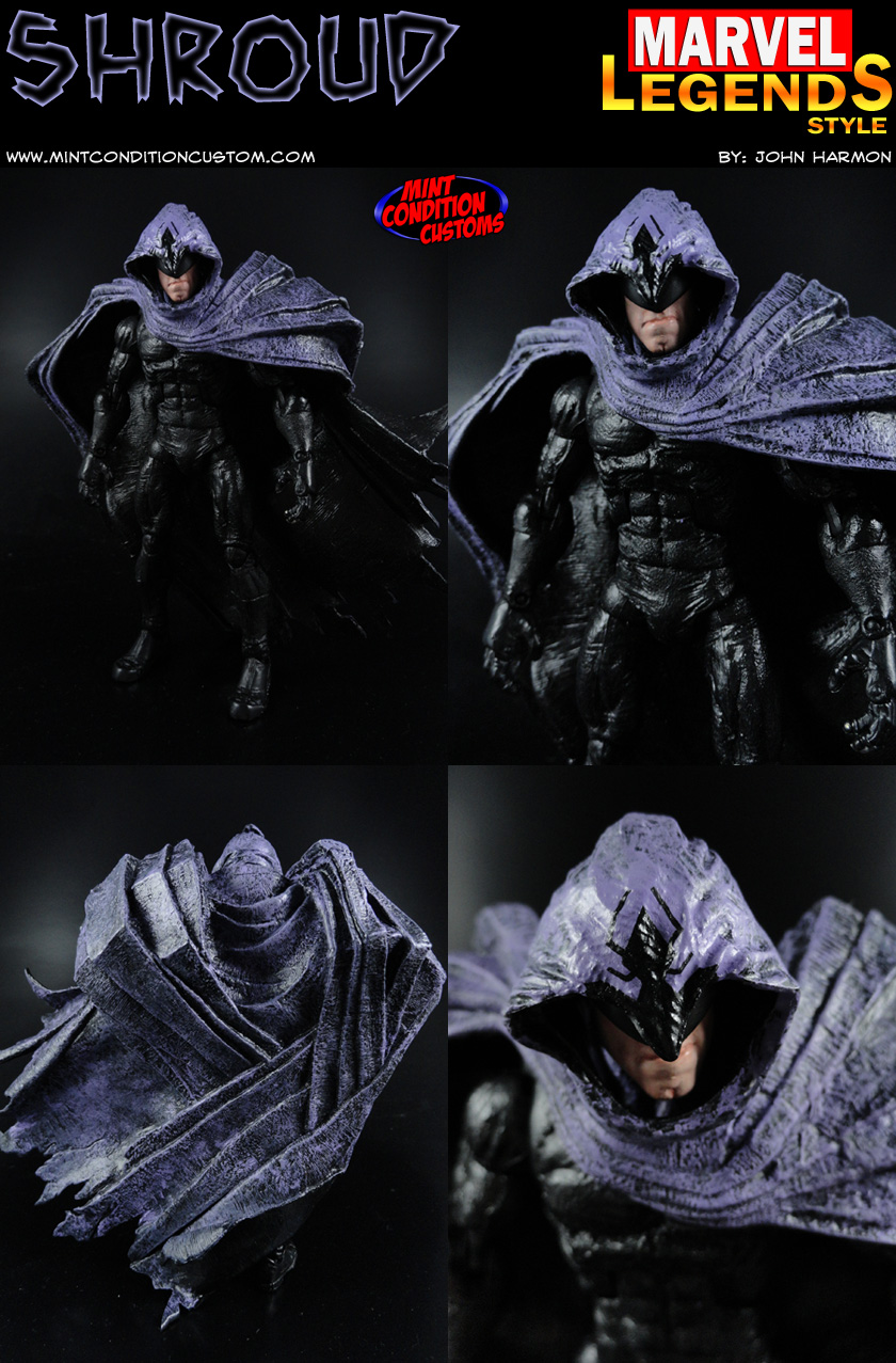 "Custom Shroud 6"" Marvel Legends Action Figure Collage"