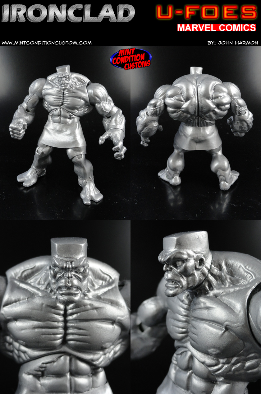 "Custom U-Foes Ironclad 3 3/4"" Marvel Universe Action Figure"