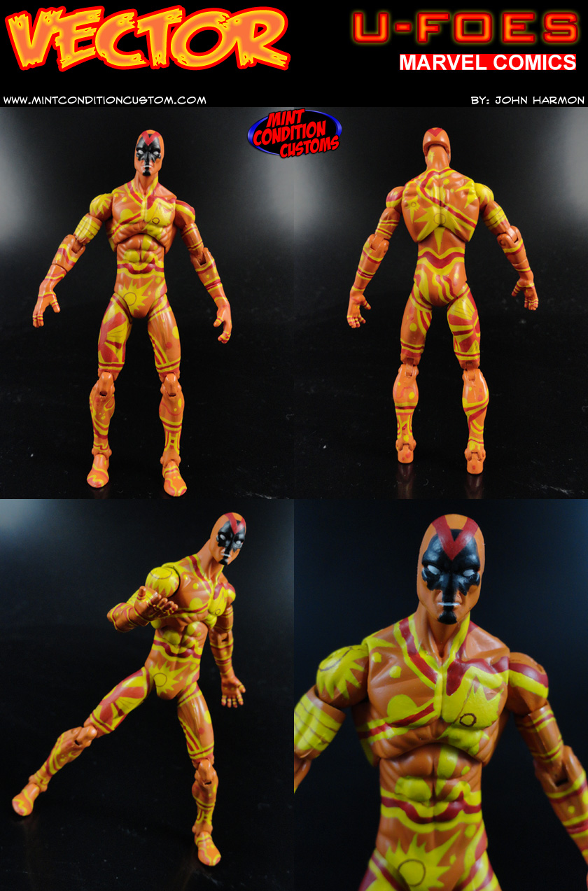 "Custom U-Foes Vector 3 3/4"" Marvel Universe Action Figure"