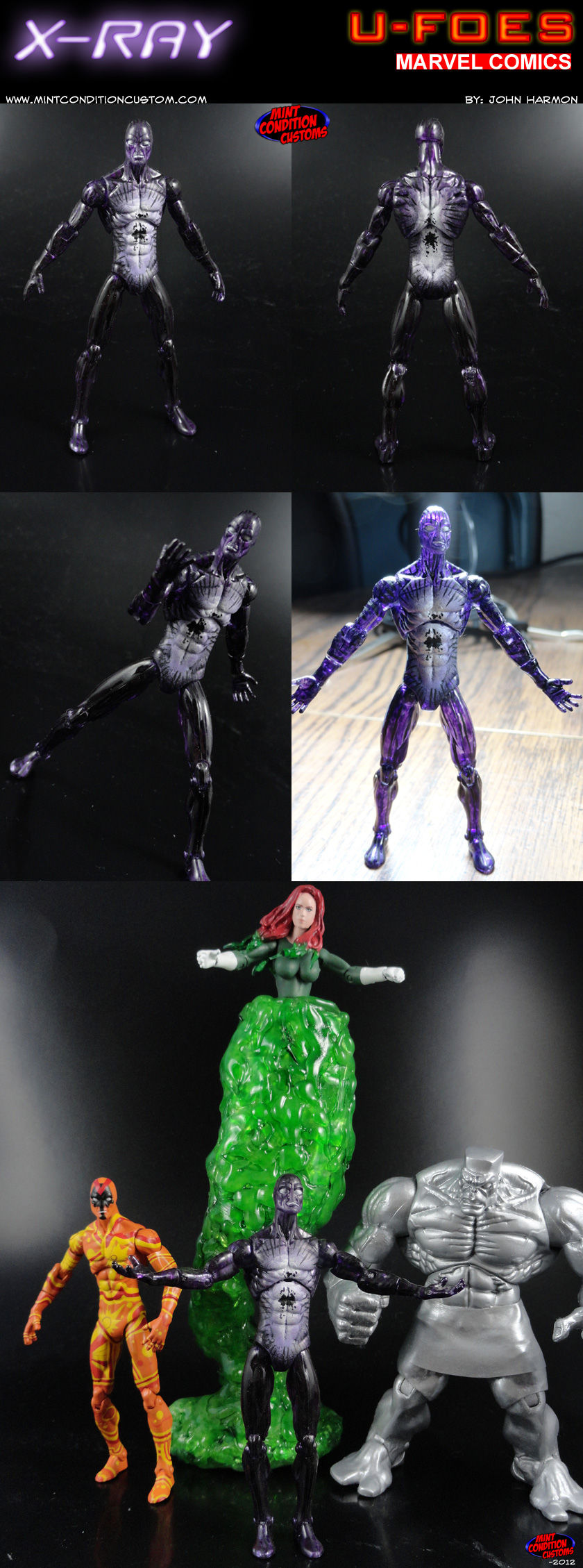 "Custom U-Foes X-Ray 3 3/4"" Marvel Universe Action Figure"
