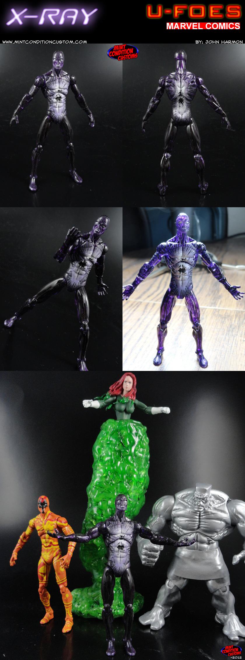 """Custom U-Foes X-Ray 3 3/4"""" Marvel Universe Action Figure"""