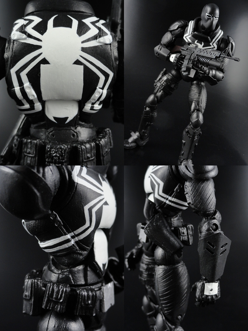 "Custom Flash Thompson Venom 6"" Marvel Legends Action Figure"