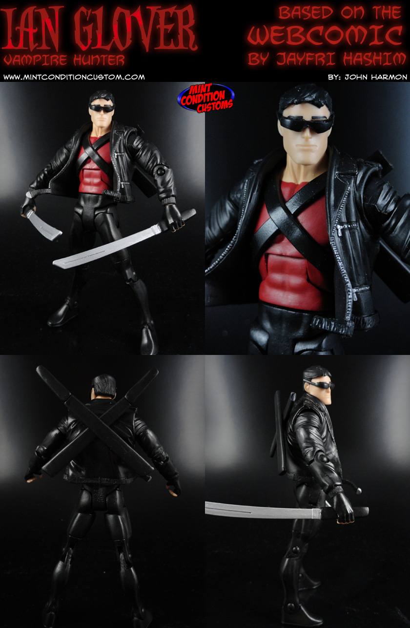 "Custom Ian Glover Vampire Hunter 6"" Action Figure"