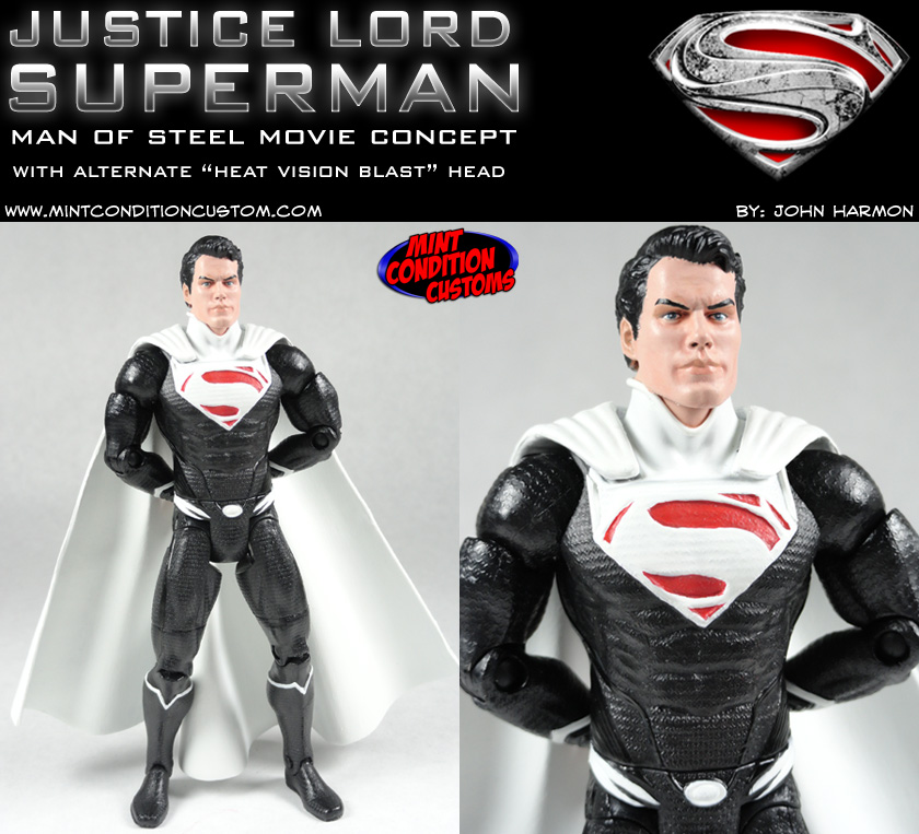 "Custom Justice Lords Superman (Man of Steel Movie Concept) 6"" DC Universe Action Figure"