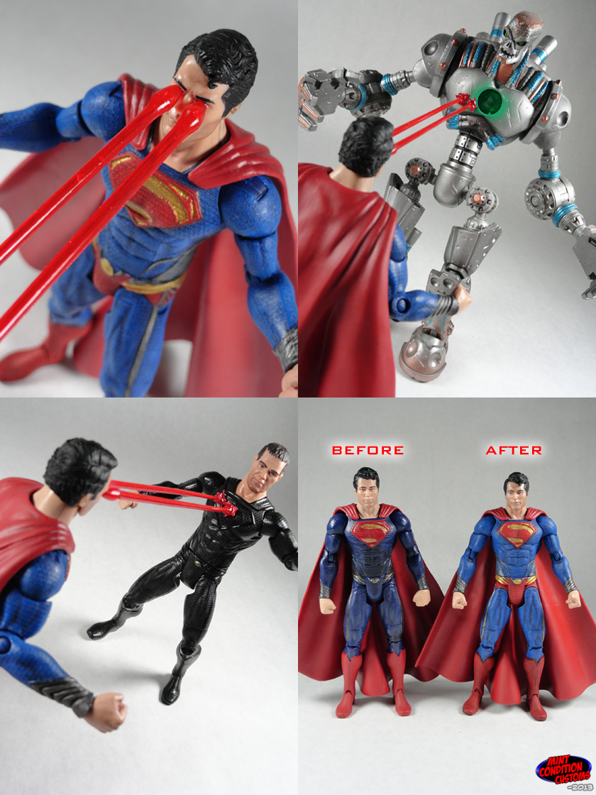 "Custom Superman Man of Steel Classic Repaint 6"" DC Universe Action Figure"