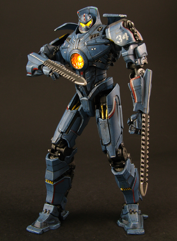 Custom Pacific Rim Gipsy Danger Charity Auction From Jin ... Pacific Rim Jaeger Gypsy Danger Toy