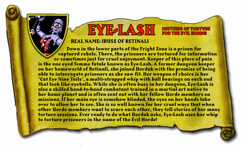 Custom Eye-Lash Masters of the Universe Classics Action Figure Bio