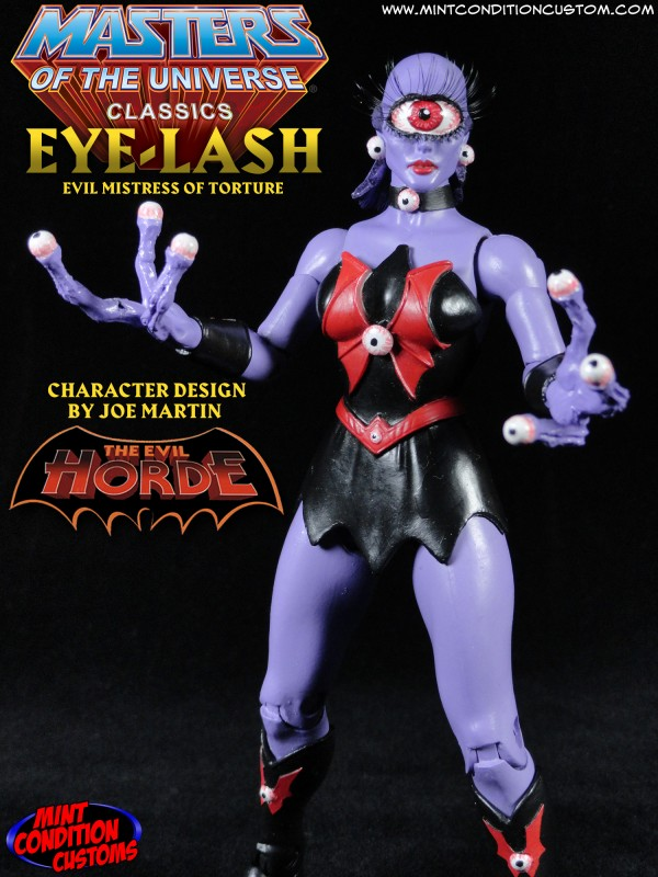 Custom Eye-Lash Masters of the Universe Classics Action Figure