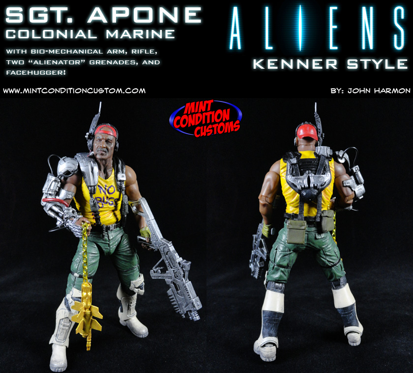 Custom Aliens Sgt. Apone (Kenner Style) Action Figure