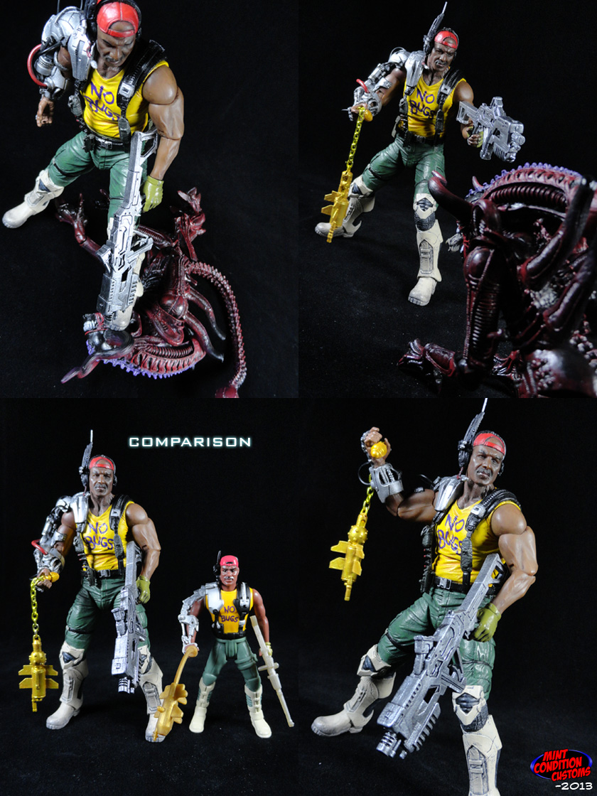 CCustom Aliens Sgt. Apone (Kenner Style) Action Figure