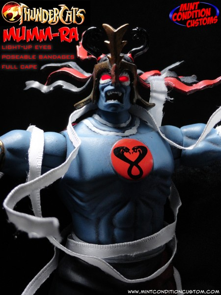 Custom Mumm-Ra w/ Light Up Eyes 6″ Thundercats Classics Action Figure