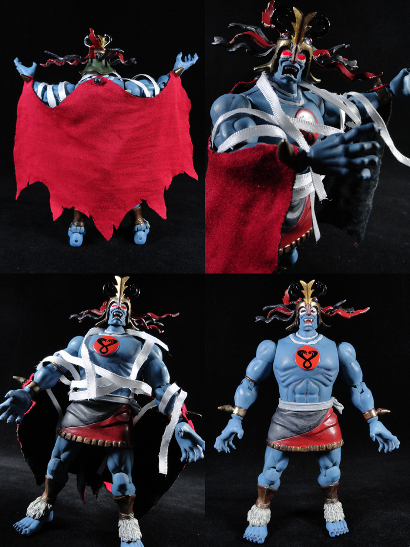 "Custom Mumm-Ra w/ Light Up Eyes 6"" Thundercats Classics Action Figure"