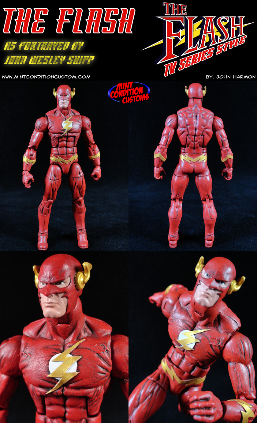 "Custom The Flash (TV Series Style) 6"" DC Universe Action Figure"