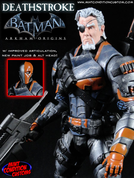 "Custom Deathstroke (Arkham Origins) 6"" DC Universe Action Figure"